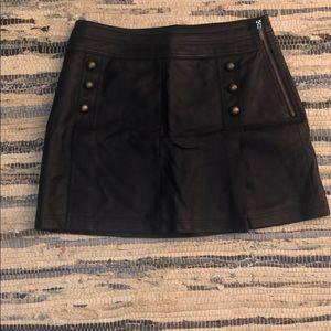 Forever 21 Navy Faux Leather Mini Skirt